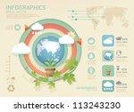 infographic eco modern soft... | Shutterstock .eps vector #113243230