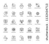 data science vector icons  | Shutterstock .eps vector #1132434713