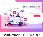vector ultraviolet gradient... | Shutterstock .eps vector #1132435280