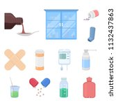 medicine and treatment cartoon... | Shutterstock .eps vector #1132437863