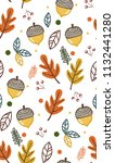 cute vintage pattern with... | Shutterstock .eps vector #1132441280