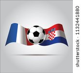 france versus croatia soccer... | Shutterstock .eps vector #1132441880