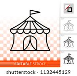 circus tent thin line icon.... | Shutterstock .eps vector #1132445129