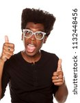 portrait of young happy african ... | Shutterstock . vector #1132448456