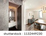 open door from living room to... | Shutterstock . vector #1132449230