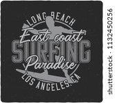 vintage label design with...   Shutterstock . vector #1132450256
