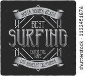 vintage label design with... | Shutterstock . vector #1132451876