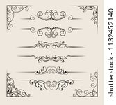 ornate frames and scroll... | Shutterstock .eps vector #1132452140