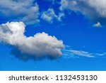 landscape in the blue sky with... | Shutterstock . vector #1132453130