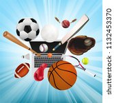 sports equipment with a... | Shutterstock .eps vector #1132453370