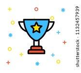 achievement award prize  | Shutterstock .eps vector #1132457939