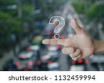 question mark sign icon on... | Shutterstock . vector #1132459994