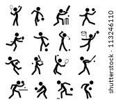sport pictogram icon set 01 | Shutterstock .eps vector #113246110