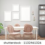 dining room and kitchen... | Shutterstock . vector #1132461326