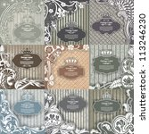 set of vintage frame | Shutterstock .eps vector #113246230