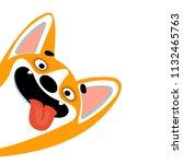 cute cartoon dog of welsh corgi ...   Shutterstock .eps vector #1132465763