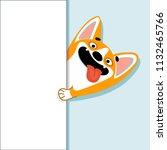 cute cartoon dog of welsh corgi ...   Shutterstock .eps vector #1132465766