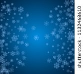 new year snowflakes on blue... | Shutterstock .eps vector #1132468610