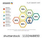 six steps percentage chart... | Shutterstock .eps vector #1132468850