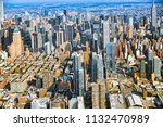fly over  view of new york and...   Shutterstock . vector #1132470989