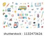 back to school doodle vector... | Shutterstock .eps vector #1132473626