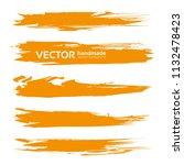 long textured orange abstract... | Shutterstock .eps vector #1132478423