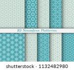 seamless pattern set in arabic...   Shutterstock .eps vector #1132482980