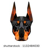 low poly triangular dog... | Shutterstock .eps vector #1132484030