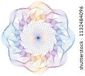 vector guilloche elements for... | Shutterstock .eps vector #1132484096