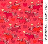 seamless vector pattern with... | Shutterstock .eps vector #1132484420