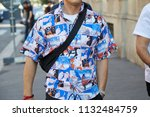 milan   june 17  man with... | Shutterstock . vector #1132484759