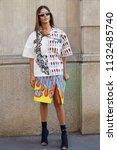 milan   june 17  gilda ambrosio ... | Shutterstock . vector #1132485740