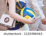 milan   june 17  woman with... | Shutterstock . vector #1132486463