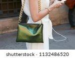 milan   june 17  woman with... | Shutterstock . vector #1132486520