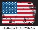 vector american flag.usa flag... | Shutterstock .eps vector #1132487756