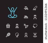 activity icons set. surfing and ...