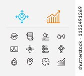work icons set. plan and work... | Shutterstock .eps vector #1132491269