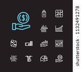 trading icons set. invest money ...