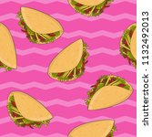 seamless pattern with mexican... | Shutterstock .eps vector #1132492013