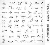 hand drawn arrows  vector set   Shutterstock .eps vector #1132497659
