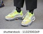 milan   june 16  man with...   Shutterstock . vector #1132500269