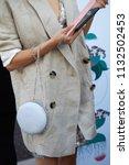 milan   june 15  woman with...   Shutterstock . vector #1132502453