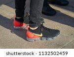 milan   june 15  man with black ... | Shutterstock . vector #1132502459