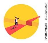 businessman standing in front... | Shutterstock .eps vector #1132503350