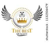 ancient crown emblem. heraldic... | Shutterstock .eps vector #1132506479