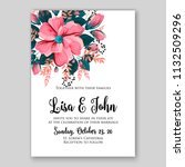 wedding invitation card flower... | Shutterstock .eps vector #1132509296