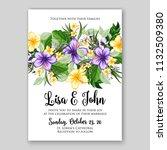 wedding invitation tropical... | Shutterstock .eps vector #1132509380
