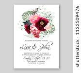 wedding invitation card flower... | Shutterstock .eps vector #1132509476