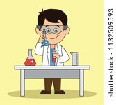 Scientist Man Doing Research...