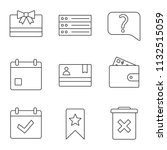 ui ux linear icons set. gift...